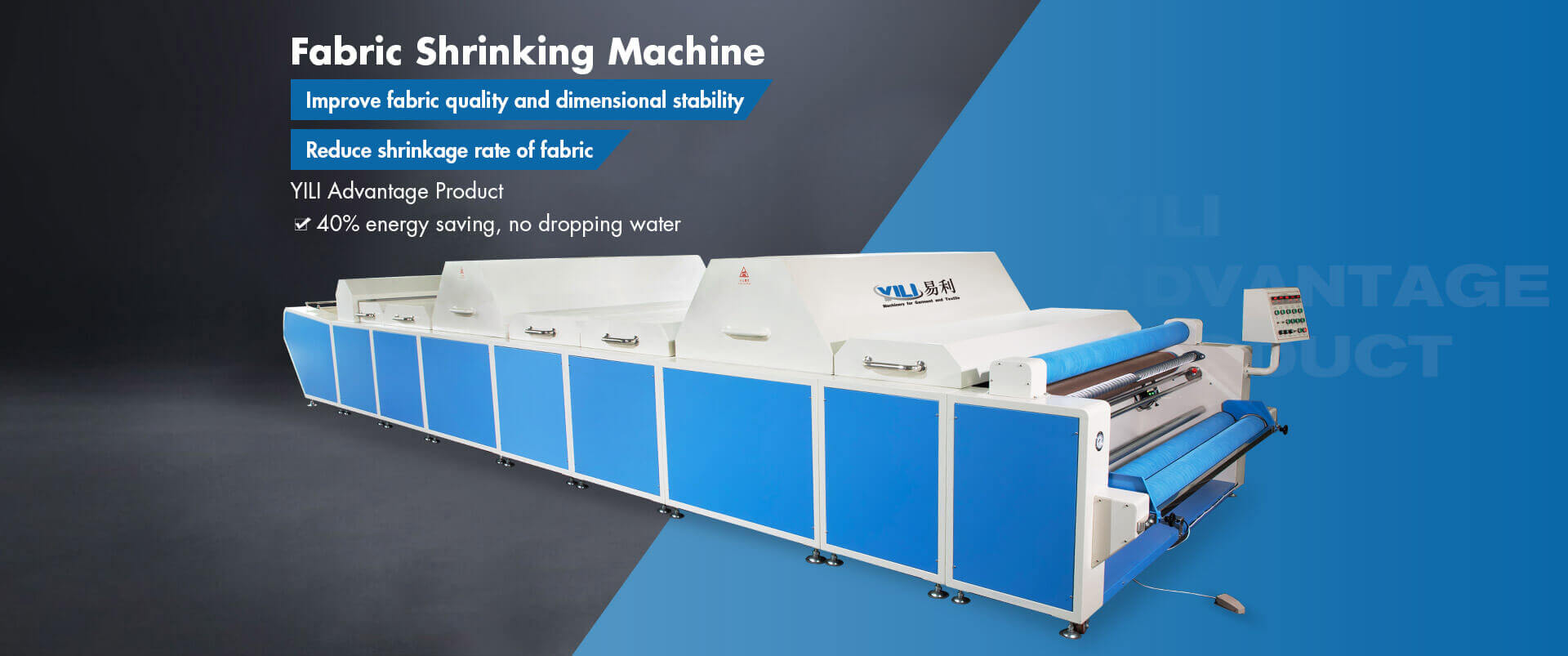 Fabric Shrinking And Forming Machine