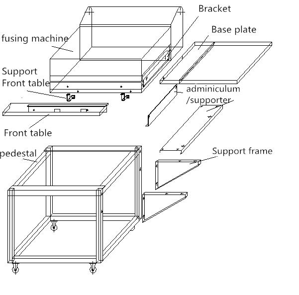 Fabric fusing press machine